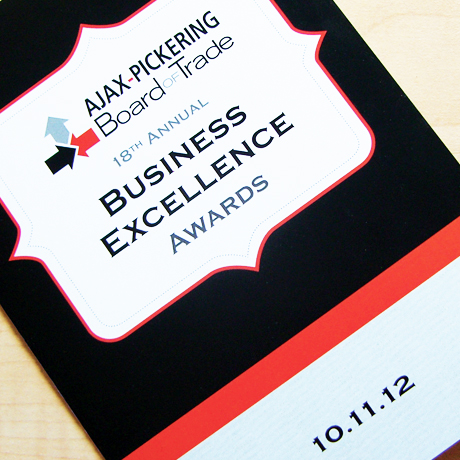 Sevans Designs Featured Projects Ajax-Pickering Board of Trade Business Excellence Awards Invitation Design