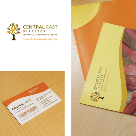 Sevans Designs Featured Projects Central East Diabetes Regional Coordination Centre Visual Identity Design